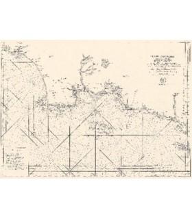 6ème carte particulière des costes de  Bretagne. Depuis la Baye d'Hodierne  jusqu'à l'Isle de Groa, les Glénan