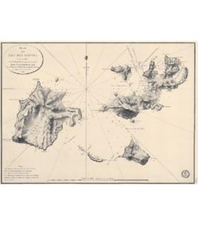 Plan des îles des Saintes
