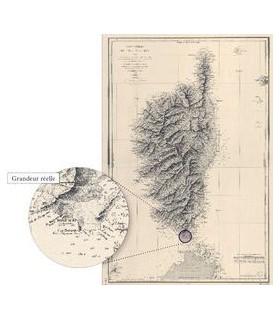 Carte générale  de l'île de Corse