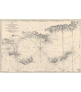 Carte de la rade et des îles d'Hyères