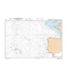 6623 - De La Manche au Détroit de Gibraltar et à l'archipel des Açores - Carte marine Shom papier