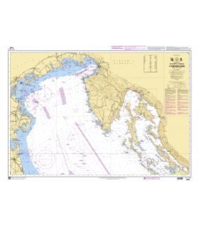 7244 - De Porto Corsini à Velebitski Kanal - Golfe de Venise - Carte marine Shom classique