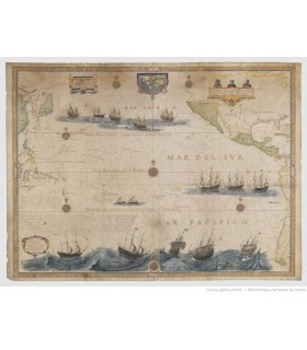 Carte-de-l'océan-Pacifique-de-Hessel-Gerritsz,-1622
