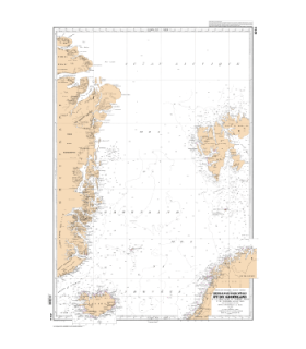6014 - De la terre Peary au Scoresby Sound et de Trondheim au Cap Nord - carte marine Shom