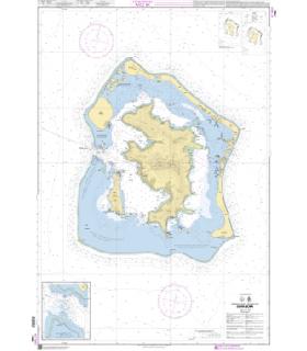 7466 Archipel de la société - Iles sous le vent - Bora Bora - carte marine Shom