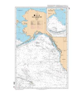 6835 - Océan Pacifique Nord - Partie Est - carte marine Shom