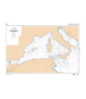 6757 - Du Détroit de Gibraltar au Canal de Sicile - carte marine Shom papier
