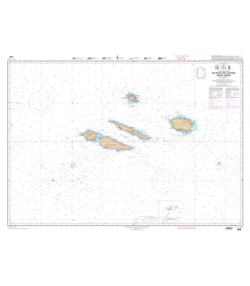 7605 - Archipel des Açores - Groupe Central - carte Shom papier