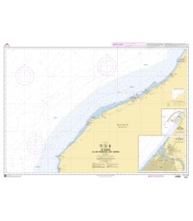 7551 - De Kenitra au cap Bedouza (Cantin) - Carte marine Shom
