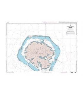 6282 - Passes entre les îles Raiatea et Tahaa - carte marine papier
