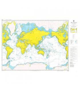Admiralty 4000 - The world - Carte marine papier
