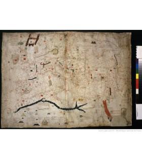 Carte nautique de la Baltique à la mer Rouge, Angelino Dulcert, Majorque, 1339