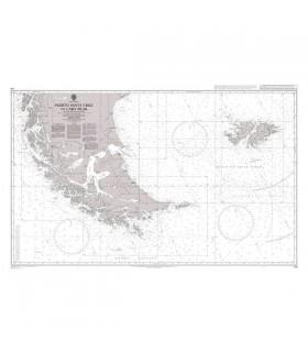 539 - Puerto Santa Cruz to Cabo Pilar including the Falkland Islands - Carte marine Admiralty