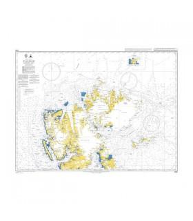 Admiralty 3136 - Svalbard Northern part - carte marine papier