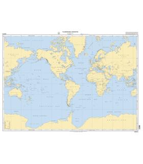0101 - Planisphère terrestre - Carte Shom