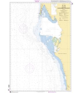 7586 - de Nouadhibou à Nouakchott - Carte marine Shom papier