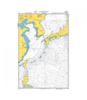 Admiralty 4509 - Western portion of Japan - Carte marine papier