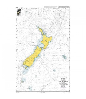 Admiralty 4600 - New Zealand - Carte marine papier