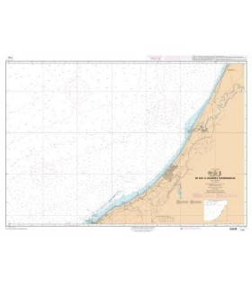 7702 - de Sisi Al Hachmi à Mohammadia - Carte marine Shom papier