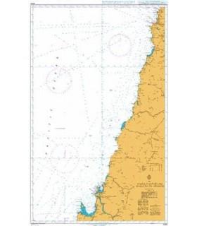 Admiralty 4240 Valparaiso to Golfeo de Arauco - Carte marine Admiralty