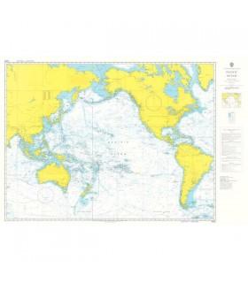 Admiralty 4002 - Pacific Ocean - Carte marine papier