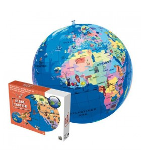Ballon gonflable mappemonde