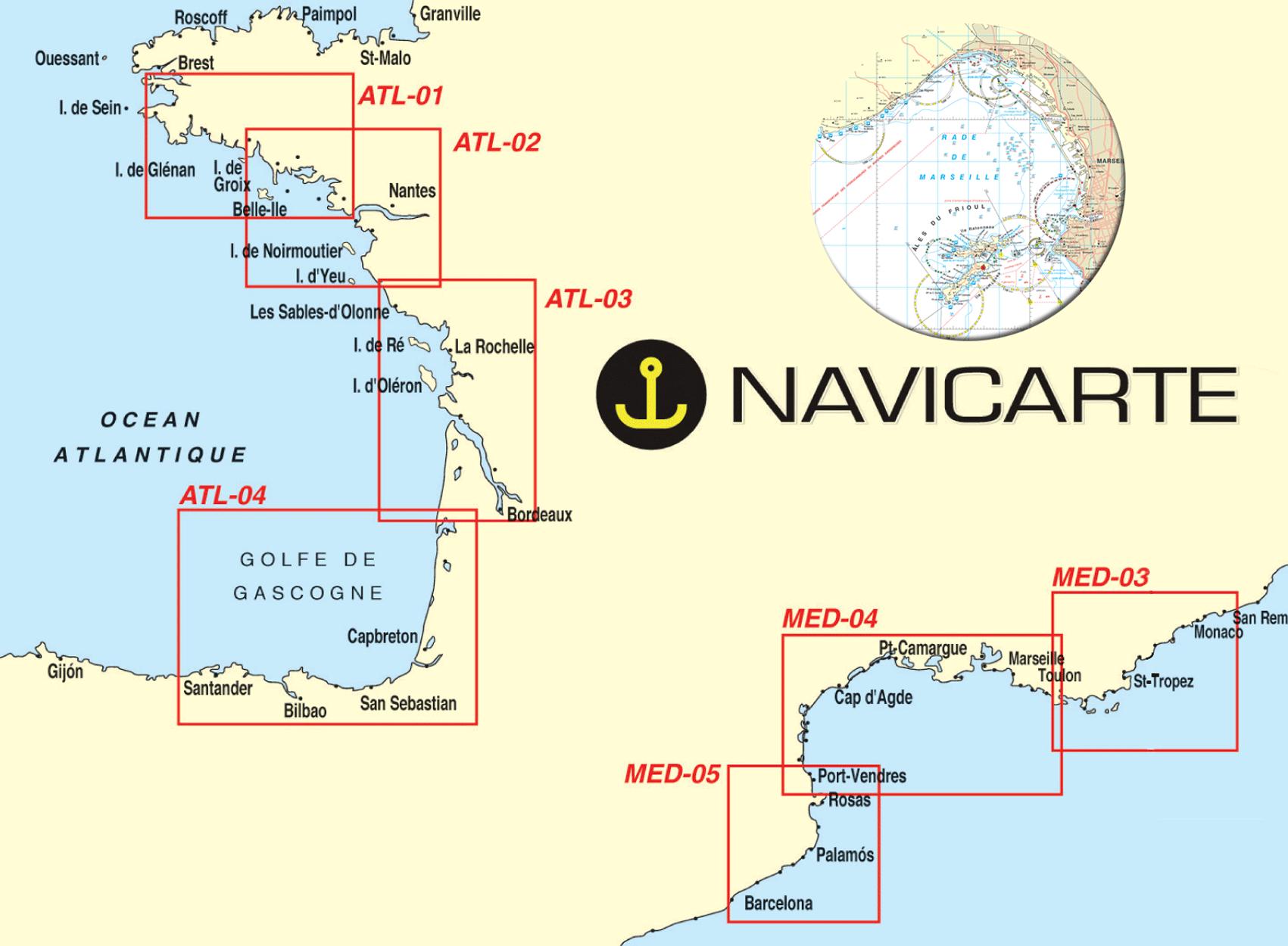 Carte marine navicarte chart kit carte marine plastifiée