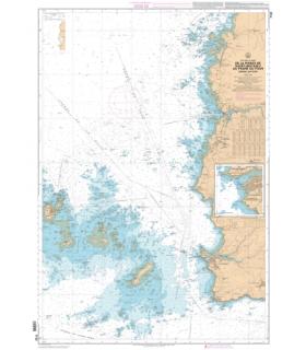 7122 - De la Pointe de Saint-Mathieu au phare du Four - Chenal du Four - Carte marine numérique