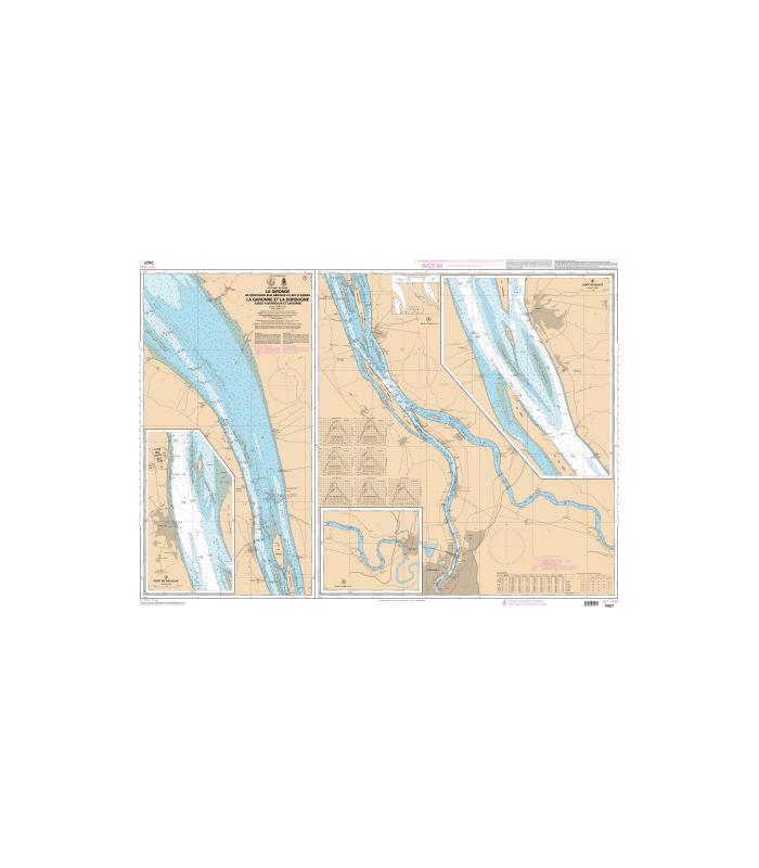7427 - La Gironde- De Mortagne-sur-Gironde au Bec d'Ambès - La Garonne et La Dordogne jusqu'à Bordeaux et Libourne