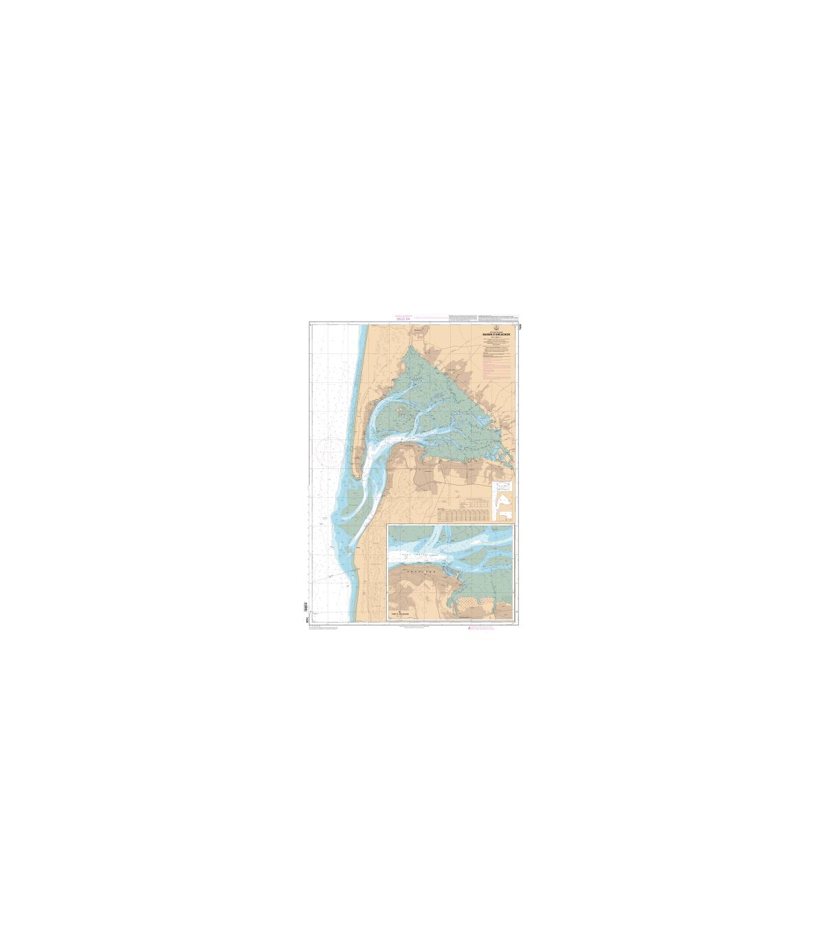 7428 Bassin Darcachon Carte Marine Numérique