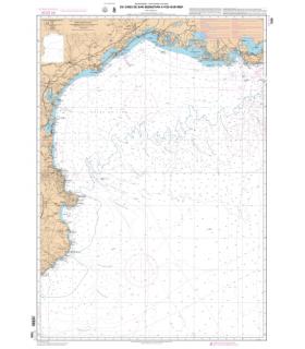 7008 L - Du Cabo de San Sebastian à Fos-sur-Mer - Carte marine Shom papier