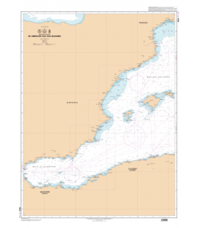 7015 L - De Gibraltar aux îles Baléares - Carte marine Shom papier