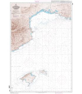 7203 L - Des îles Baléares (Islas Baleares) à Marseille - Carte marine Shom papier