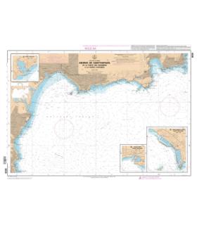 6838 L - Abords de Saint-Raphaël - De la Pointe des Issambres à la Pointe d'Anthéor - Carte marine Shom papier