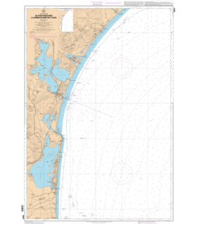 6844 L - De Port-Barcarès à l'embouchure de l'Aude - Carte marine Shom papier