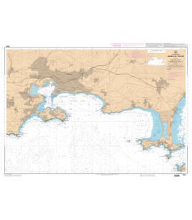 7091 L - Abords de Toulon - Carte marine Shom papier