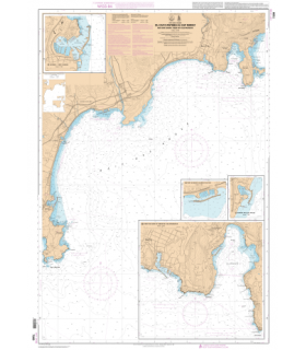 7200 L - Du Cap d'Antibes au Cap Ferrat - Baie des Anges - Rade de Villefranche - Carte marine Shom papier