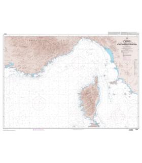7204 L - De Marseille à l'île d'Elbe (Isola d'Elba) et aux Bouches de Bonifacio - Carte marine Shom papier