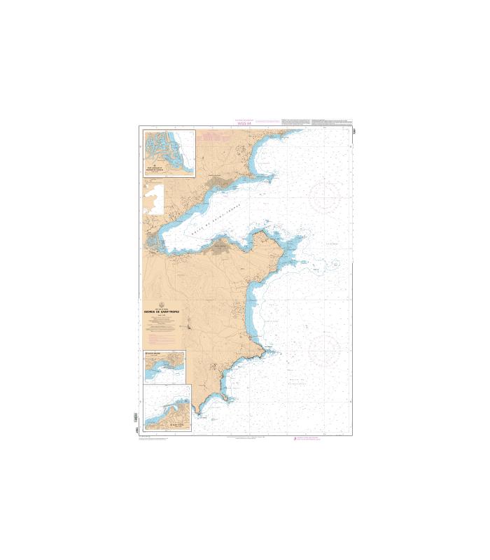 Carte marine Shom 7267 L   Abords de Saint Tropez   Carte marine Sh