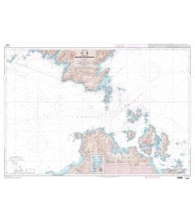 7024 L - Bouches de Bonifacio - Carte marine Shom papier