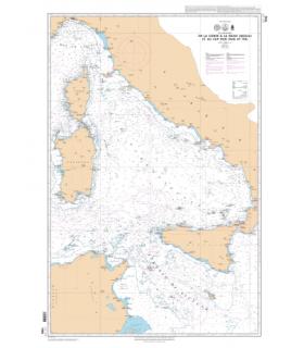 7292 L - De la Corse à la Sicile (Sicilia) et au Cap Bon (Ras at Tib) - Carte marine Shom papier