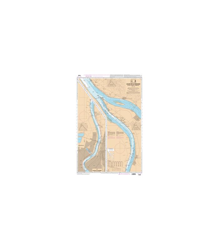 Carte marine Shom 7030 L   Cours de la Garonne   Du Bec d'Ambès à B