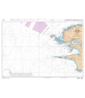 Carte SHOM papier 7066  - De l'île Vierge à la Pointe de Penmarc'h - Abords de Brest