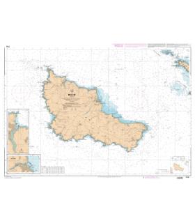 7142 L - Belle-Ile - Carte marine Shom papier