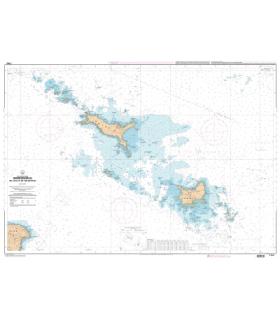 7143 L - Abords des Iles de Houat et de Hoëdic - Carte marine Shom papier