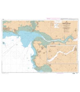 7144 L - Embouchure de la Vilaine - De Damgan à La Roche-Bernard - Carte marine Shom papier