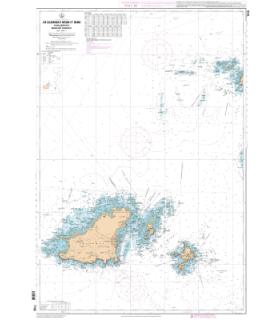 7159 L - De Guernsey, Herm et Sark à Alderney - Bancs des Casquets - Carte marine Shom papier