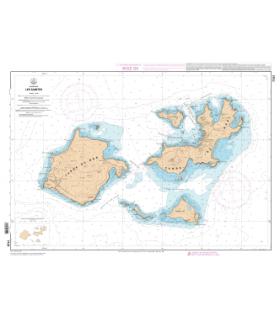 7101 - Les Saintes - Carte marine Shom papier