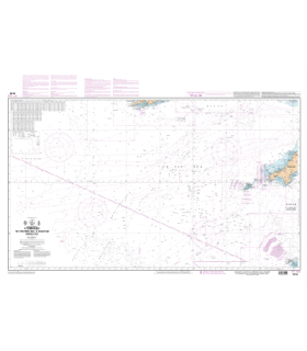 7210 L - Atterrages de l'entrée de La Manche - Mer Celtique - Carte marine Shom papier