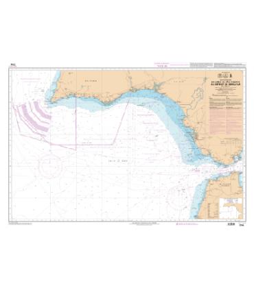 Carte Marine Shom 7754 L De Cabo De Sao Vicente Au Detroit De Gib
